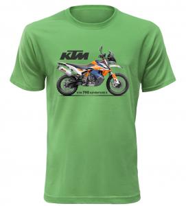 Pánské tričko s motorkou KTM 790 Adventure R zelené