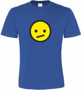 Pánské tričko smajlík přemýšlí