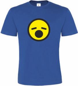 Pánské tričko zívající smajlík