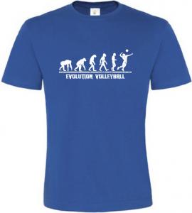 Evolution Volleyball pánské modré tričko