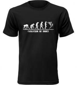 Evolution Of Dance pánské černé tričko