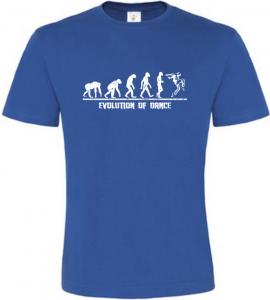 Evolution Of Dance pánské modré tričko