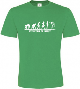 Evolution Of Dance pánské zelené tričko