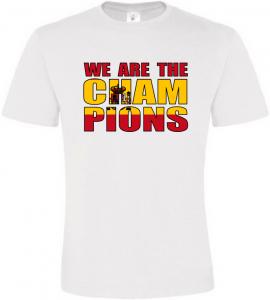 Pánské tričko fandím Španělsku bílé