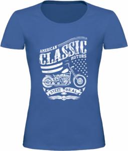 Dámské tričko American Classic Motors modré