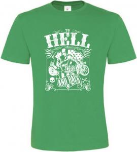 HELL zelené tričko pánské