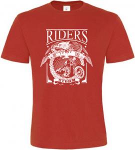 RIDERS červené motorkářské tričko pánské