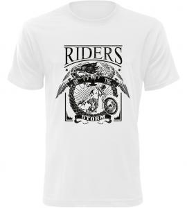 RIDERS bílé motorkářské tričko pánské