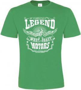 Pánské motorkářské tričko Legend zelené