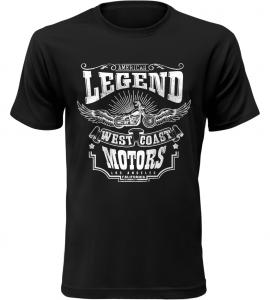 Pánské motorkářské tričko Legend černé