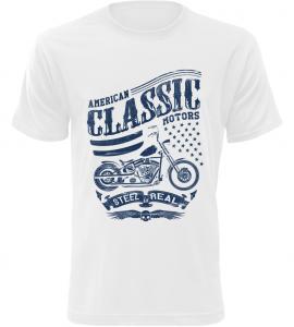 Pánské motorkářské tričko American Classic Motors bílé