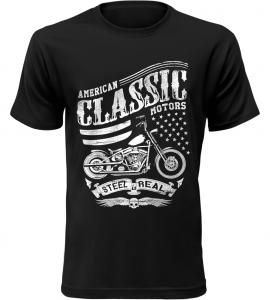 Pánské motorkářské tričko American Classic Motors černé