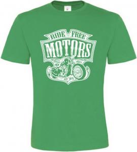 Pánské motorkářské tričko Ride Free Motors zelené