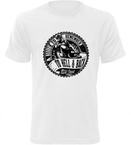 Pánské motorkářské tričko A Ride To Remember bílé