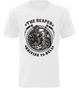 Pánské motorkářské tričko The Reaper bílé