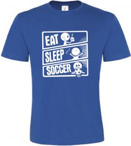 Pánské tričko JÍDLO SPÁNEK KOPANÁ modré