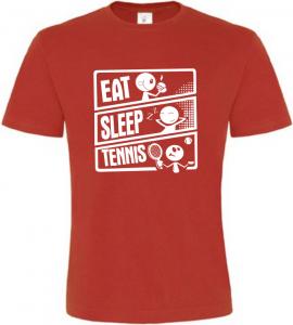 Pánské tričko JÍDLO SPÁNEK TENIS červené