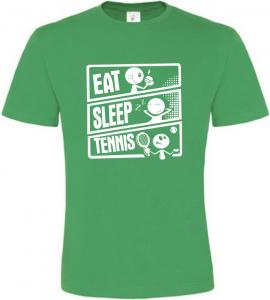 Pánské tričko JÍDLO SPÁNEK TENIS zelené