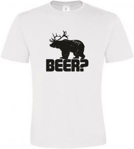 Pánské vtipné tričko BEER bílé