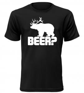 Pánské vtipné tričko BEER černé