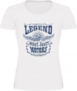 Dámské motorkářské tričko Legend bílé