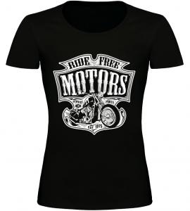 Dámské motorkářské tričko Ride Free Motors černé