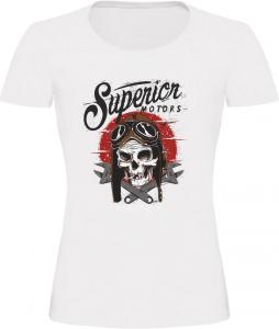 Dámské motorkářské tričko Superior bílé