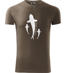 Pánské Rybářské tričko Miluji rybolov army