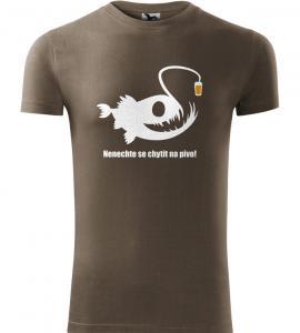 Pánské rybářské tričko POZOR na pivo army