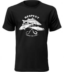 Pánské rybářské triko Respect černé