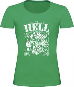 Dámské motorkářské tričko HELL zelené