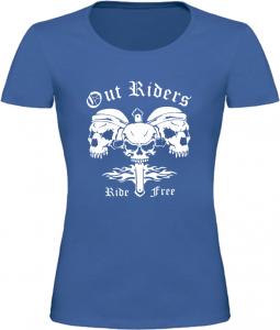 Dámské motorkářské tričko Out Riders modré