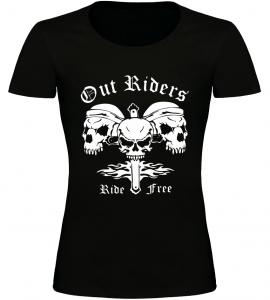 Dámské motorkářské tričko Out Riders černé