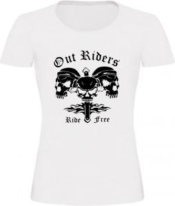 Dámské motorkářské tričko Out Riders bílé