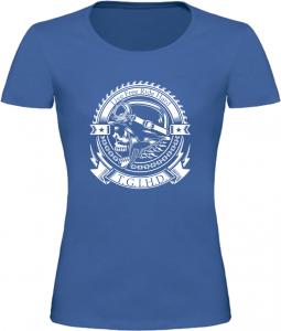 Dámské motorkářské tričko T.G.I.H.D. modré