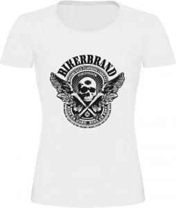 Dámské motorkářské tričko BIKERBRAND bílé