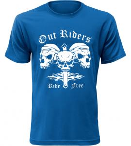 Pánské motorkářské tričko Out Riders modré