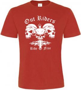 Pánské motorkářské tričko Out Riders červené