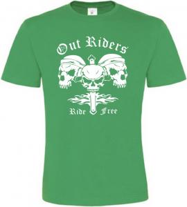 Pánské motorkářské tričko Out Riders zelené