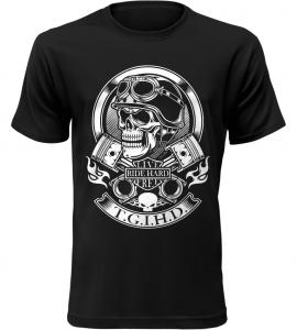 Pánské motorkářské tričko Live Ride Hard Free černé