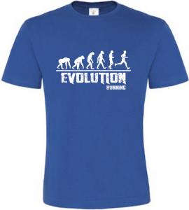 Pánské tričko Evolution Running modré