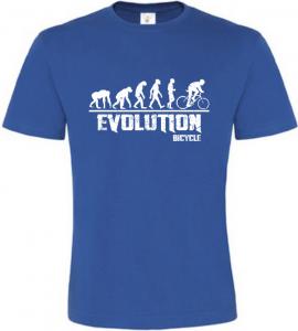 Pánské tričko Evolution Bicycle modré