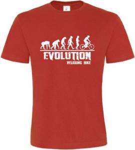 Pánské tričko Evolution Relaxing Bike červené
