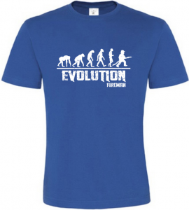 Pánské tričko Evolution Fireman modré