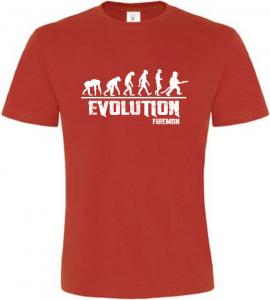 Pánské tričko Evolution Fireman červené