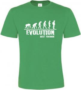 Pánské tričko Evolution Best Fireman zelené