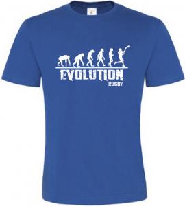 Pánské tričko Evolution Rugby modré