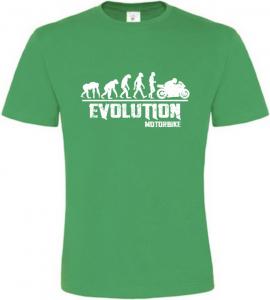 Pánské tričko Evolution Motorbike zelené