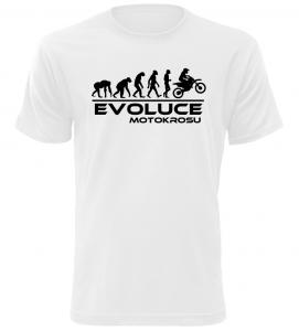 Pánské tričko Evoluce Motokrosu bílé