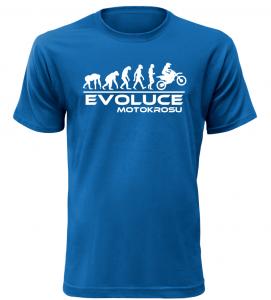 Pánské tričko Evoluce Motokrosu modré